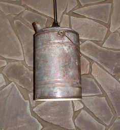 Antique gas can light repurposed lighting industrial by UpReNew, $42.00