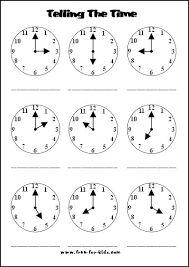 Resultado de imagen para timing worksheets elementary