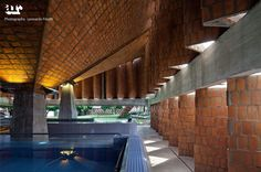 semi underground public baths / pool ideation... image shows the desired look and feel of the place... exudes mysterious albeit welcoming ambience...