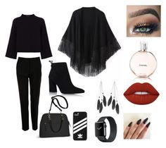 """""""Work dinner"""" by nonameavailable on Polyvore featuring Jaeger, Relaxfeel, Stuart Weitzman, Dolce&Gabbana, Avenue, adidas, Charlotte Russe, Lime Crime and Chanel"""