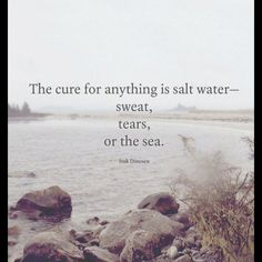Salt Water cures everything!
