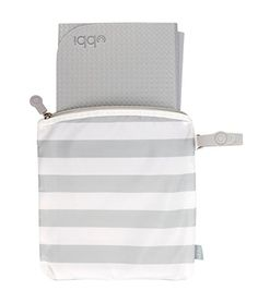 Ubbi On The Go Travel Diaper Gray and White Changing Mat Bag Baby Gift Baby Changing Pad, Changing Mat, Grey White Nursery, Project Nursery, Grey And White, Gray, Baby Gear, Bag Storage, New Product