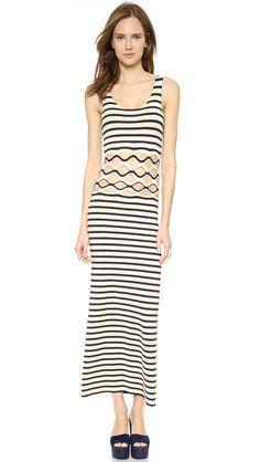 Jean Paul Gaultier Striped Cutout Dress