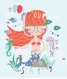 Design by BettyjoyDesignStudio Designer - Lucia Wilkinson #mermaid #placement #underthesea