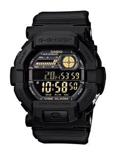Casio G-Shock Mens GD350-1B World Time Alarm Digital Black Resin 49mm Watch http://ift.tt/2BFF1gy