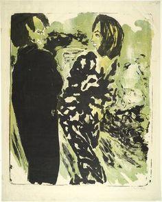 Emile Noldeエーミール・ノルデ「Junges Paar(若いカップル)」(1913)