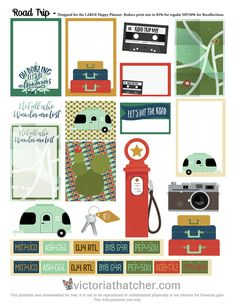 FREE Road Trip Planner Printable by Victoria Thatcher