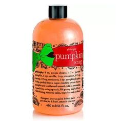 A sweet seasonal treat from Philosophy: Pumpkin Icing Shampoo, Shower Gel & Bubble Bath leaves skin and hair soft, silky and lightly scented. Cream For Dry Skin, Body Cleanser, Pumpkin Spice Latte, Bubble Bath, Anti Aging Cream, Shower Gel, Bath Shower, Beauty Routines, Body Wash