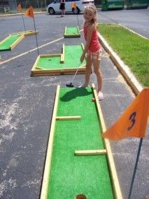 9 Hole Mini Golf - Our Mini Golf Course is great for tournaments for young and old! http://carnivallady.com/product/9-hole-mini-golf/