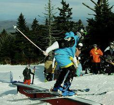 Lampshade steeze when you forget your ski pants.  #Killington early season 11/12