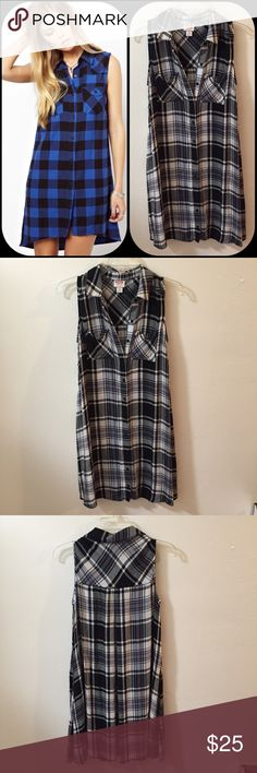 Sleeveless Flannel Swing Dress Such a style staple and in excellent quality! The material is flows with the wind and is soft so this is such a comfortable and chic dress for the summer and basically all seasons! Excellent condition Mossimo Supply Co Dresses