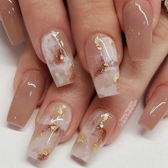45 Beautiful Marble Nails to Copy Right Now . - 45 Beautiful Marble Nails to Copy Right Now . Acrylic Nails Coffin Short, Summer Acrylic Nails, Best Acrylic Nails, Acrylic Nail Designs, Coffin Nails, Summer Nails, Wedding Acrylic Nails, Winter Nails, Gold Wedding Nails