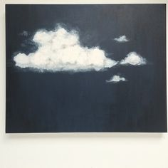 Original Painting, Acrylic Painting, Cloud Painting, Landscape Painting, Painting on Canvas, Contemporary Art, Wall Art, Navy, Black, Grey