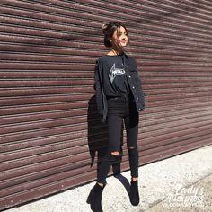 #aliexpress, #ROMWE, #Women, #Autumn, #Korean, #Designer, #Street, #Fashion, #Black, #Sleeve, #Lapel, #Single, #Breasted, #Pockets, #Denim, #Jacket