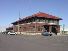 Chicago, Milwaukee, St. Paul and Pacific Depot. Aberdeen, SD.  Visit the Aberdeen Area Convention and Visitors Bureau at the Depot.