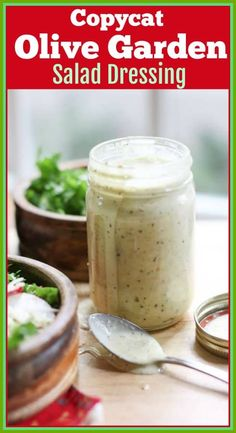 This Copycat Olive Garden Salad Dressing Recipe is better than the restaurant version. It is full of flavor and you can make it in 3 minutes! #olivegarden #saladdressing Copycat Recipes, Sauce Recipes, Jam Recipes, Easy Cooking, Cooking Recipes, Kitchen Recipes, Healthy Recipes, Dinner Iseas, Salad Dressing Recipes