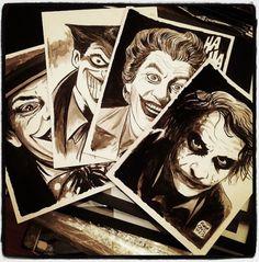 Francesco Francavilla, 'Joker Poker.' #art #illustration #comics #movies #heJoker #FrancescoFrancavilla