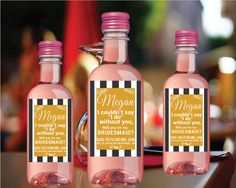 Personalized Bridesmaid Mini Wine labels Will by LabelByLoveArts