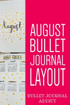 August Bullet Journal Layout With Simple Design - Pretty and Simple Bullet Journal Spreads - Bullet Journal Yellow Dot Theme #monthlyspread #bujo #bujolove #bujomonthly #monthlybujo #bujospreads #bulletjournal #bulletjournalcommunity #bujocommunity #bujoideas #bujoinspiration #bujoinspo Bullet Journal Monthly Spread, Bullet Journal Themes, Bullet Journal Layout, Bullet Journal Inspiration, Journal Ideas, Doodle Art For Beginners, Just Keep Going, Brain Dump, Weekly Spread