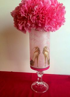 fe151faafb9f Sweet 16 centerpiece high heel centerpiece by Janiescreativecrafts