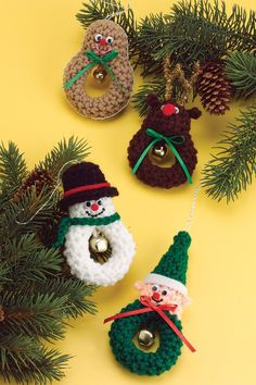 Christmas Characters - these would also make adorable pins for the young & young at heart ladies and magnets also!