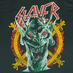 Vintage Slayer South Of Heaven tee from the 80s. Extremely rare boot!