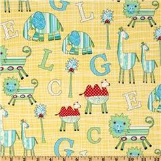 Two By Two Alphabet Animals Yellow