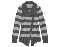 Cover Up: Asymmetrical lines, cool gray stripes, and a cozy texture make Athleta's Asymmetrical Zip Cardy ($138) the perfect post-yoga cover-up.