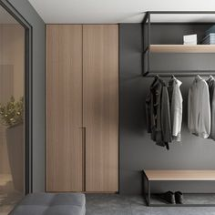 The customer came to us to update the interior of a private house near Minsk (Belarus). The main task of the project was to unload the interior as. Wardrobe Door Designs, Wardrobe Design Bedroom, Hotel Bedroom Design, Modern Hotel Room, Hall Interior Design, Hallway Furniture, Furniture Design, House Design, Decoration