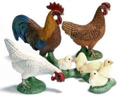 Schleich chicken group, great decoration or toy for middle aged children.