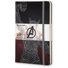 Moleskine The Avengers Limited Edition Notebook, Large, Ruled, Black,... ($17) ❤ liked on Polyvore featuring home, home decor and stationery