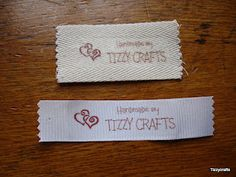 Tizzy Crafts: Fabric Labels