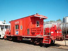 Caboose train car. #Trains