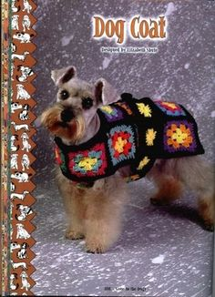 ideas for crochet granny square animal dog sweaters Dog Coat Pattern, Coat Patterns, Love Crochet, Crochet Hats, Point Granny Au Crochet, Crochet Dog Sweater, Dog Jacket, Dog Sweaters, Dog Coats