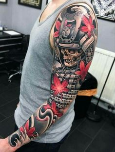Japanese and samurai sleeve!