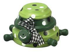 Een schildpad van terracotta potten! Vrolijk voor in de tuin! #ECOstyle #diy