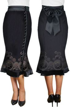 Steam Punk Gear Skirt by Amber Middaugh --- Save 37% at ChicStar.com --Coupon: AMBER37
