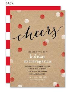 Cheerful Holiday Dots Invitation #holiday #party #invitiation