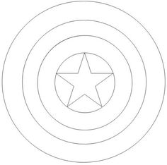 Captain America Shield Coloring Page Design Kids