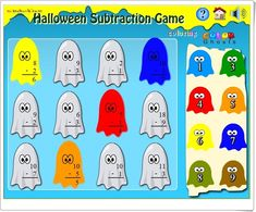 Halloween - Interactive Learning Sites for Education Smart Board Activities, Subtraction Games, Learning Sites, Halloween Carnival, Interactive Learning, Lesson Plans, How To Plan, Education, Disney Characters