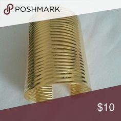 Cuff Bracelet Metal Gold Cuff Bracelet. Jewelry Bracelets