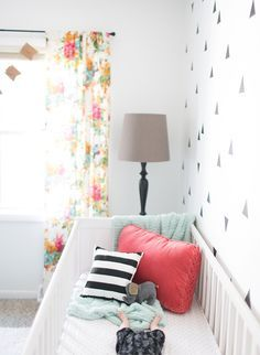 Black, White & Coral Girl Nursery - Inspired by This