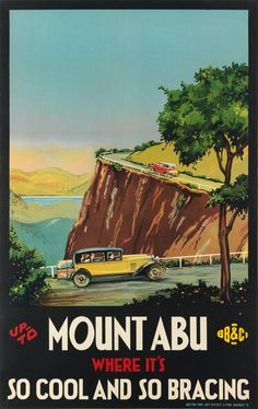 Up to Mont Abu - where it's so cool and so bracing - India - 1930 - illustration de Ralph O'Neil - Travel Around The World, Around The Worlds, India Poster, Mount Abu, Travel Wall, Hill Station, Vintage Travel Posters, India Travel, Southeast Asia