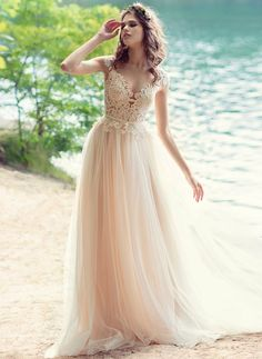 @BridalPulse Wedding Dress Gallery | Wings of Love Collection | Floor Champagne…