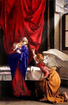 Orazio Gentileschi,The Annunciation 1623
