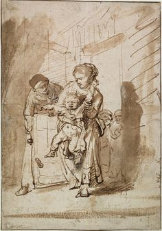 Rembrandt Harmenszoon van Rijn all_drawings Rembrandt Etchings, Rembrandt Drawings, Rembrandt Art, Drawn Art, Baroque Art, Dutch Painters, Dutch Artists, Gouache, Painting & Drawing