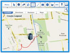 Use a google map to show a route to anywhere!