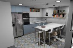 Uno de los diseños que nos solicitado para una de las viviendas de obra nueva que estamos terminando. ¿No es fantástico? New Homes, Table, House, Furniture, Home Decor, Kitchens, Decoration Home, Home, Room Decor