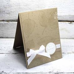 Stampin' Up! Cards | Card Making Ideas | Handmade Greeting Cards | Paper Crafts | Masculine Cards | Cards for Men | Sinple Cards | How To Tie A Bow | Papercrafting Tips | Card Making Techniques | Monochromatic Cards | Come see how mounting multiple stamps on one block can let you create custom backgrounds and image motifs without spending a fortune!
