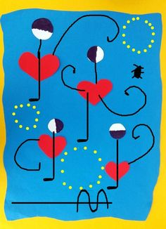 Joan Miro Pinturas, Miro Paintings, Art Du Monde, Stick Art, Art Diy, Art Projects, Projects To Try, Science Experiments Kids, Mark Making